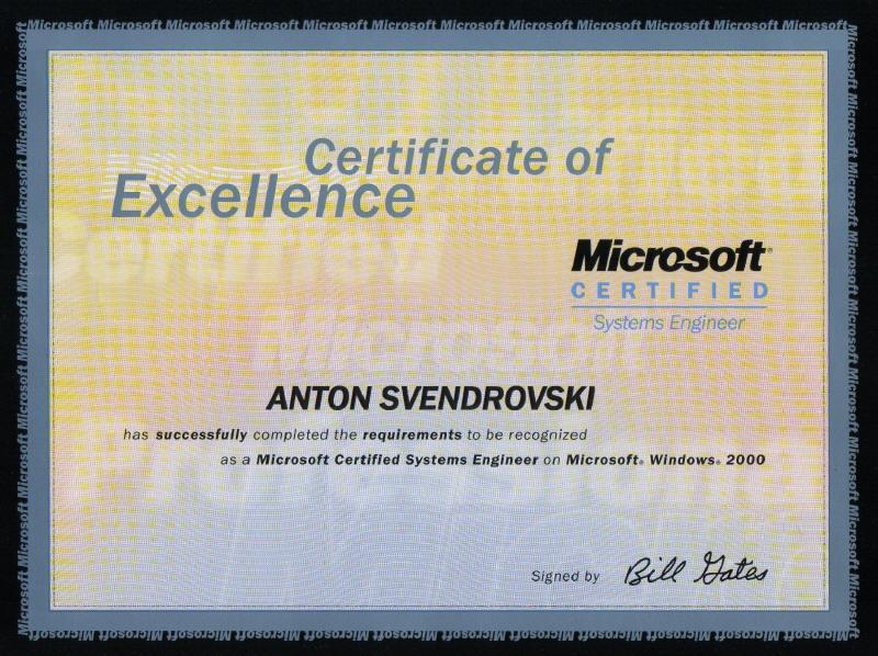 Website Of Anton Svendrovski Professional Certification
